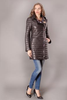 Куртка кожаная стеганая