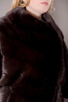 """Полушубок норковый """"летучая мышь"""