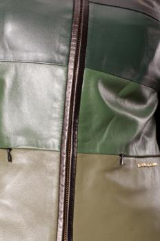 Куртка кожаная без ворота