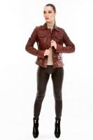 Короткая классическая кожаная куртка_0