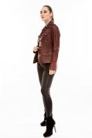 Короткая классическая кожаная куртка_1