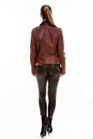 Короткая классическая кожаная куртка_2