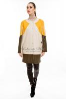 Кожаная куртка с яркими цветными вставками_0