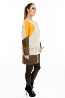 Кожаная куртка с яркими цветными вставками_1