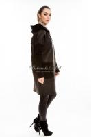 Кожаная куртка с текстильными рукавами_2