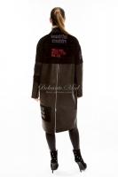 Кожаное пальто на пуговицах_2