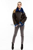 Короткая молодежная кожаная куртка_0