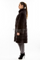 Норковое пальто с воротником-стойкой_1