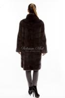 Норковое пальто с воротником-стойкой_2