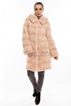 Норковое пальто с капюшоном