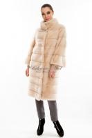 Длинное норковое пальто в поперечном исполнении_0